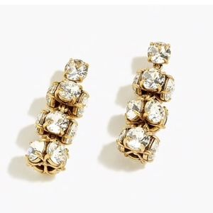 NWT J. Crew Crystal Drop Earrings HOLIDAY NEW